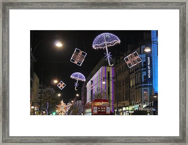 London At Christmas Framed Print