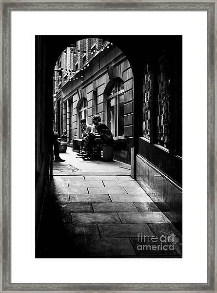 London Backstreet Alley Framed Print