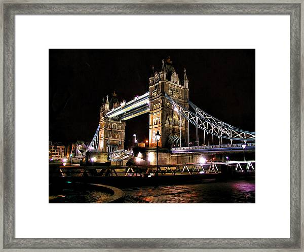 London Bridge At Night Framed Print