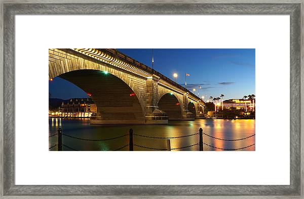 Twilight Reflections Framed Print
