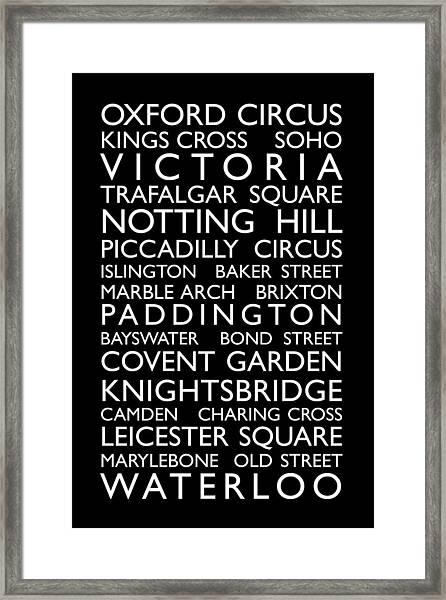 London Bus Roll Framed Print