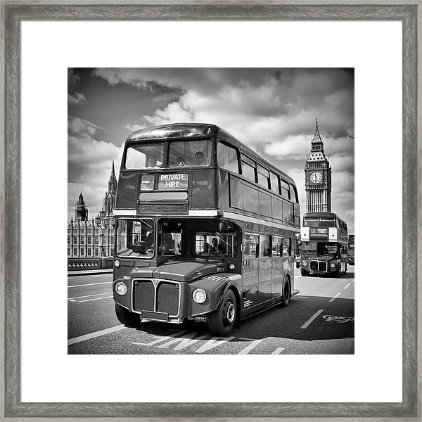 London Classical Streetscene Framed Print