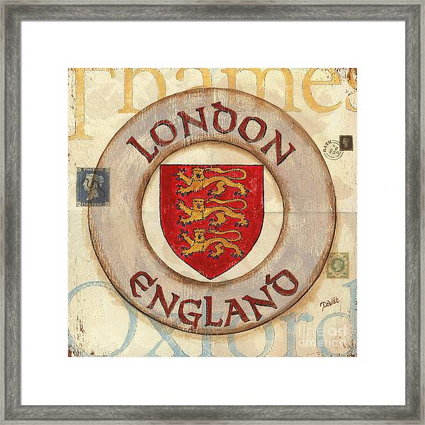 London Coat Of Arms Framed Print