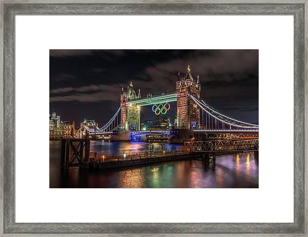 London Gold Framed Print