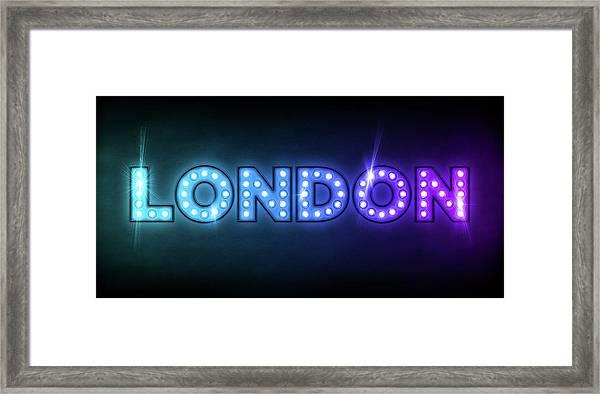 London In Lights Framed Print