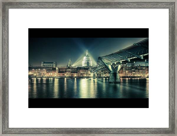 London Landmarks By Night Framed Print
