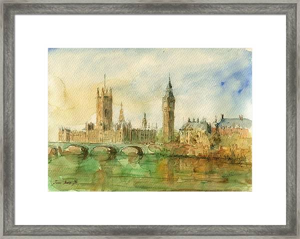 London Parliament Framed Print