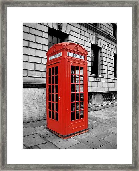 London Phone Booth Framed Print