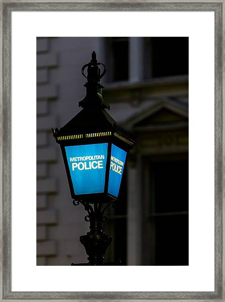 London Police Lamp Framed Print