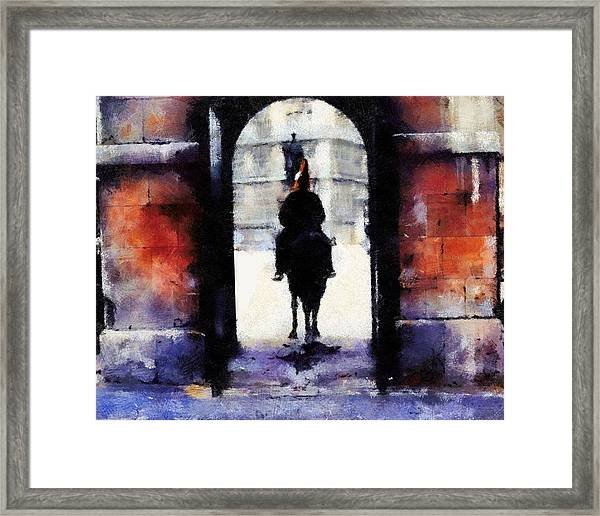 London Poop Framed Print