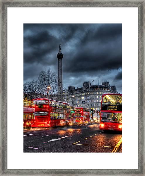 London Red Buses Framed Print