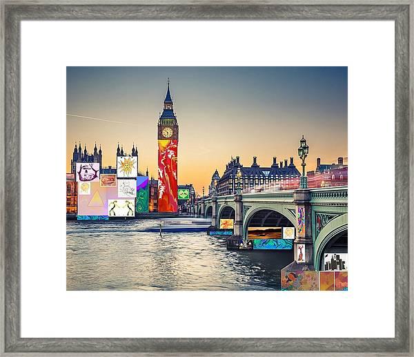 London Skyline Collage 3 Inc Big Ben, Westminster  Framed Print