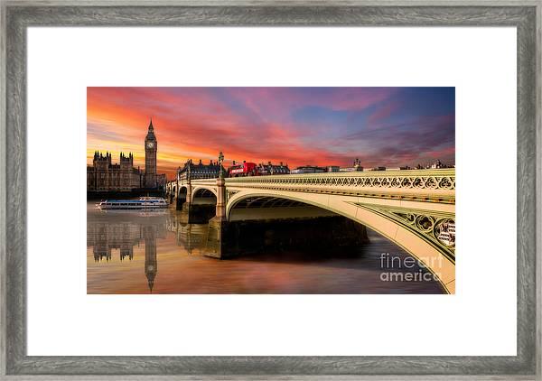 London Sunset Framed Print