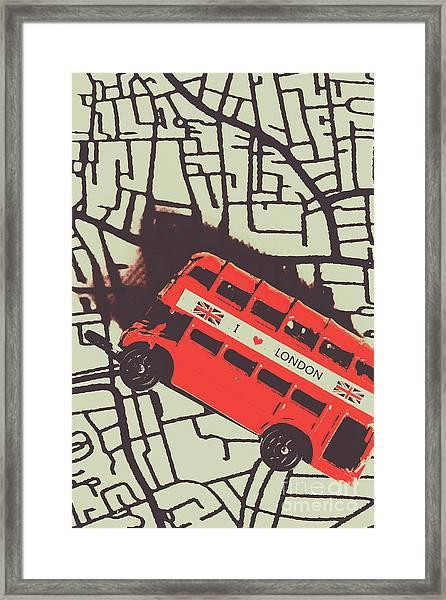 Londoners Travel Run Framed Print
