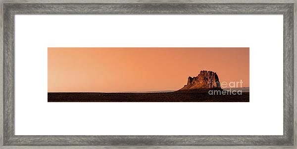 Lone Mesa Framed Print