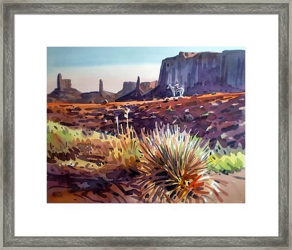 Lone Rider Framed Print by Donald Maier