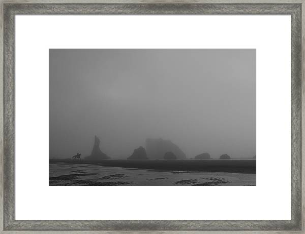 Framed Print featuring the photograph Lone Rider by Dylan Punke
