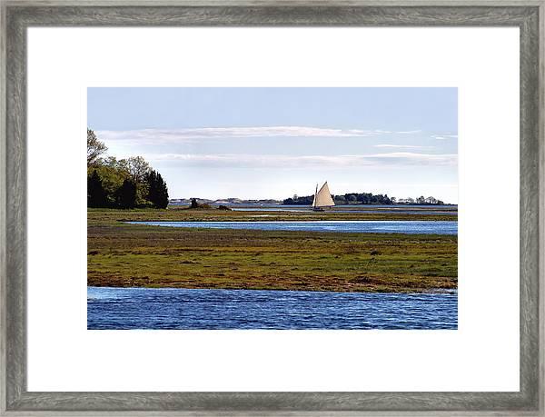 Lone Sail Framed Print