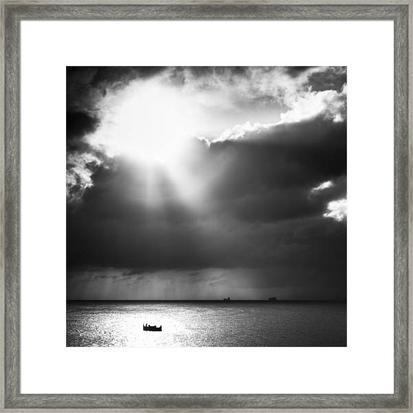 Lonely At Sea Framed Print