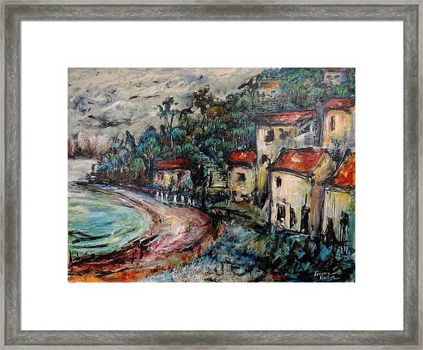 Lonely Bay Framed Print