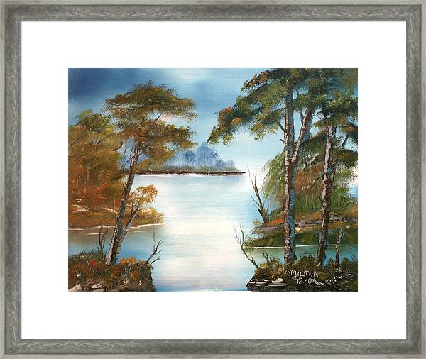 Lonely Bay Framed Print