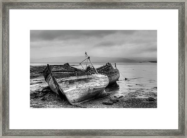 Lonely Fishing Boats Framed Print
