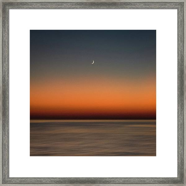 Lonely Moon Framed Print