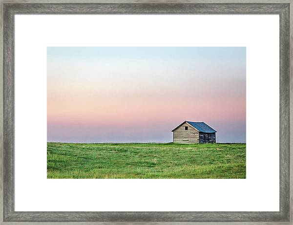 Lonely Old Shed Framed Print