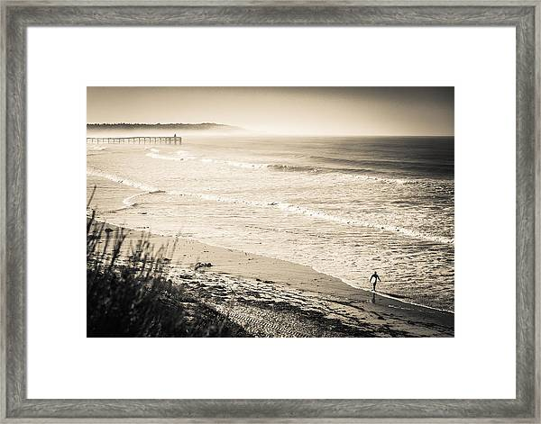 Lonely Pb Surf Framed Print