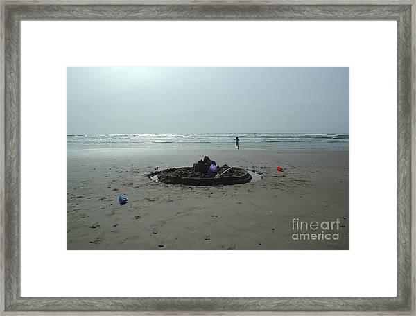 Lonely Sandcastle Framed Print