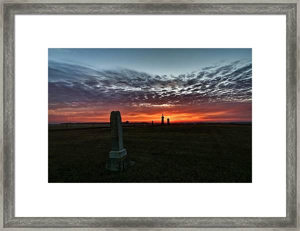 Lonely Sunset Framed Print