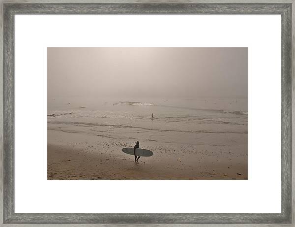 Lonely Surfer Framed Print