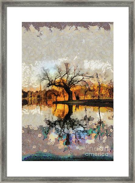 Lonely Tree And Its Thoughts Framed Print