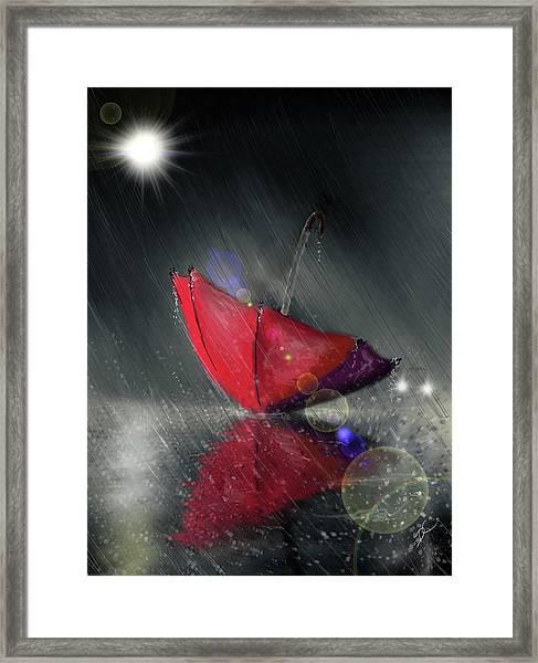 Lonely Umbrella Framed Print