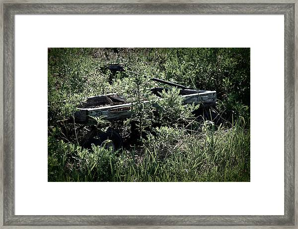 Lonely Wagon Framed Print