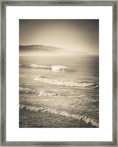 Lonely Winter Waves Framed Print