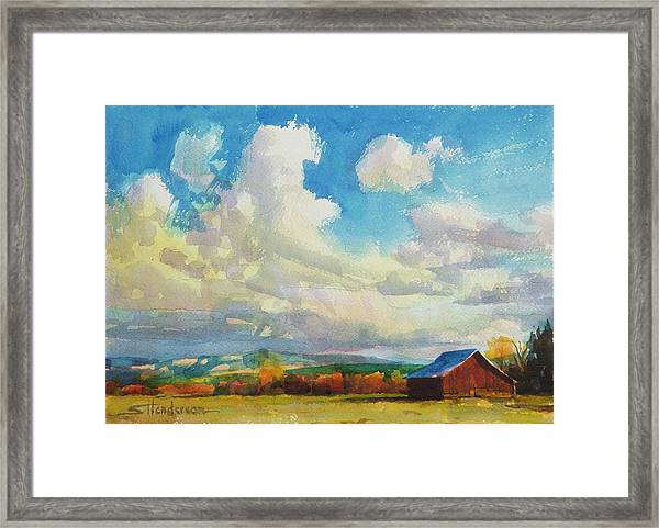 Lonesome Barn Framed Print