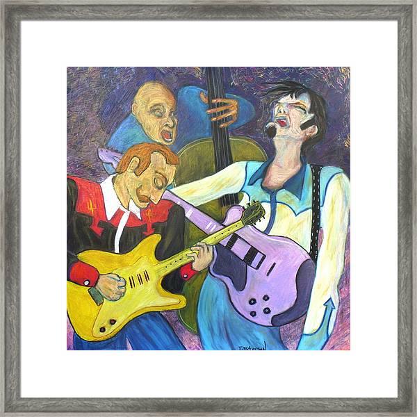 Lonesome Blues Framed Print