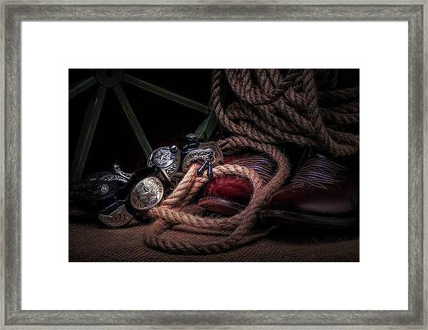 Lonestar Cowpoke Framed Print