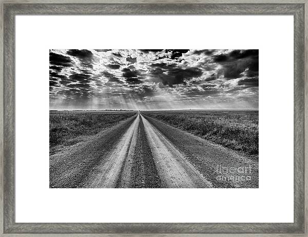 Long And Lonely Framed Print