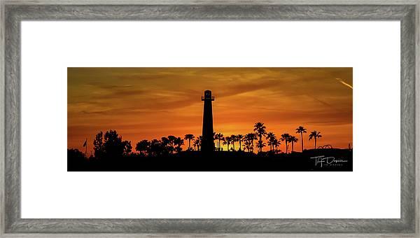 Long Beach Lighthouse Framed Print