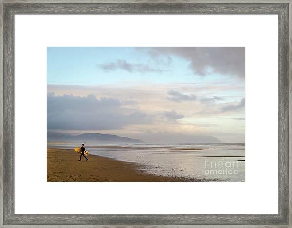 Long Day Surfing Framed Print