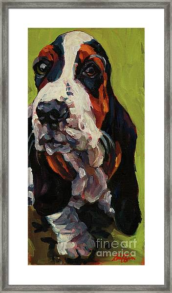 Long Dog Framed Print
