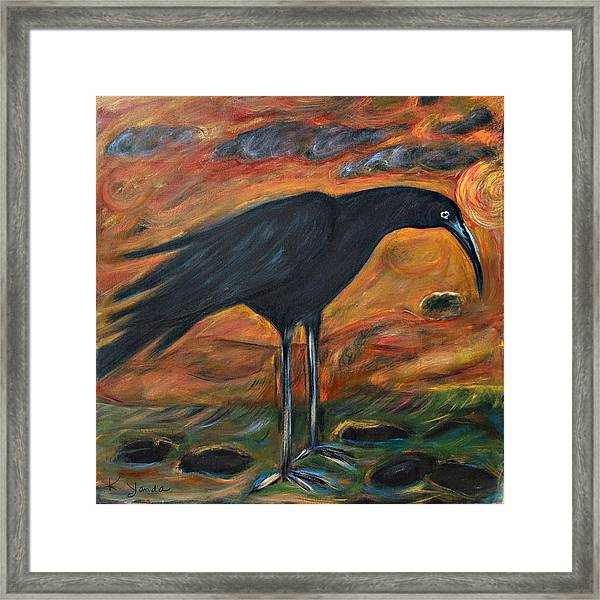 Long Legged Crow Framed Print