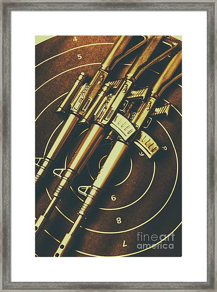Long Range Tactical Rifles Framed Print