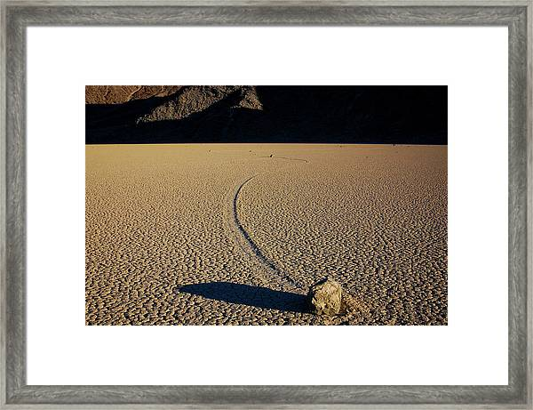 Long Tracks Framed Print