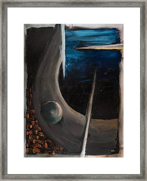 Framed Print featuring the painting Longing by Break The Silhouette