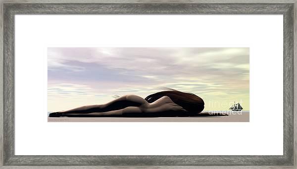 Framed Print featuring the digital art Longing by Sandra Bauser Digital Art