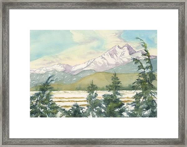Long's Peak From Longmont Framed Print