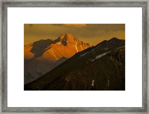 Long's Peak Framed Print